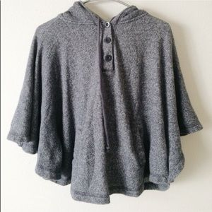 Forever 21 Sweaters - F21 GREY PONCHO SWEATER